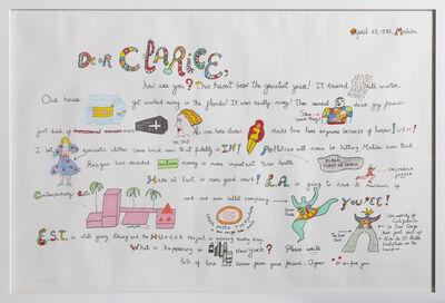 Niki de Saint Phalle, 'Dear Clarice from Eight by Eight Portfolio', 1983