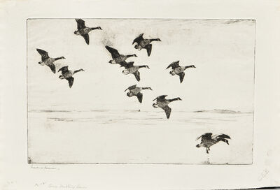 Frank Weston Benson, 'Three Impressions of Geese Drifting Down', 1929