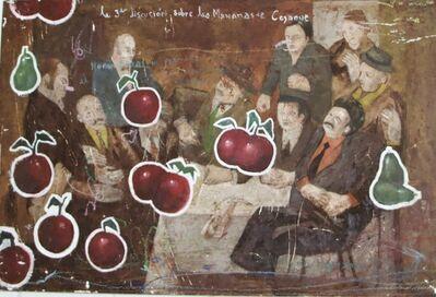 Armando Romero, 'Hombre sentado con cerezas cayendo', ca. 2004