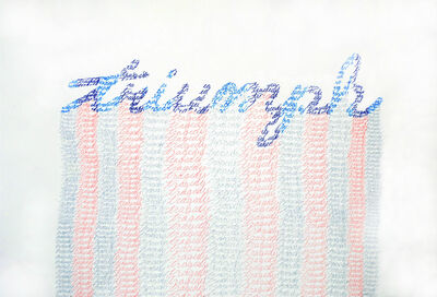 Ghost of a Dream, 'Triumph and Tragedy (Blue, Pink, Grey)', 2012