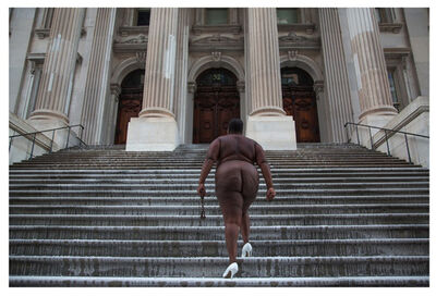 Nona Faustine, 'Over Her Dead Body, Tweed Courthouse, Brooklyn, NY ', 2013