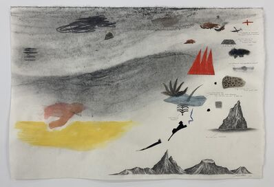 Robyn O'Neil, 'Skyscape (Made from the Shapes of Bill Traylor)', 2020