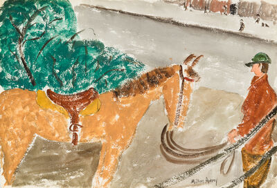 Milton Avery, 'Untitled (Horse & Rider) / Untitled (Daffodils)', ca. 1930