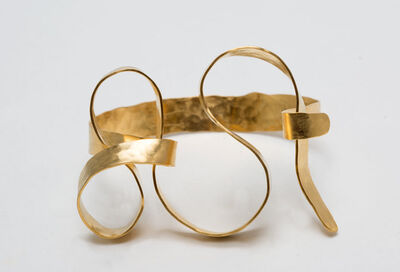 "Jacques Jarrige, 'BRACELET ""Meanders"" by Jacques Jarrige gold plated ', 2016"