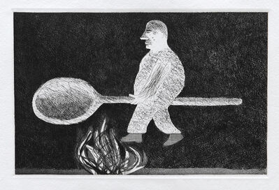 David Hockney, 'Riding Around on a Cooking Spoon', 1969