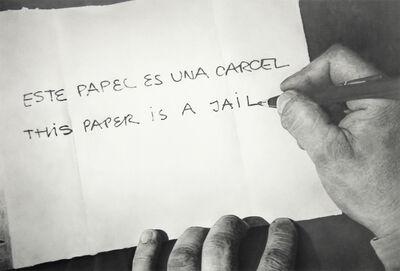 """Martí Cormand, 'Formalizing their concept: Horazcio Zabala's  """"Este papel es una carcel"""" 1972', 2013"""