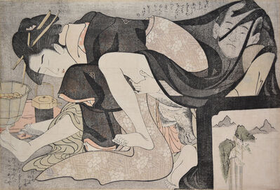 Kitagawa Utamaro, 'A Transparent Veil: Celebrating a Passionate Meeting of Lovers', ca. 1798