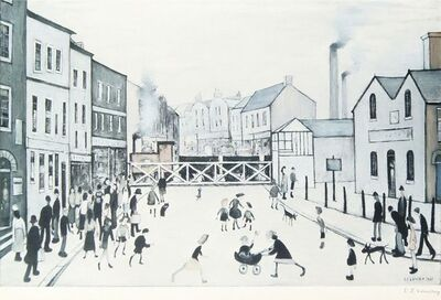 Laurence Stephen Lowry, 'The Level Crossing, Burton-on-Trent'