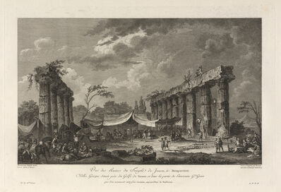 Jean Claude Richard de Saint-Non (author), 'Vue des Ruines du Temple de Junon, a Metapontum', 1781
