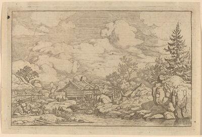 Allart van Everdingen, 'Three Goats at the River', probably c. 1645/1656