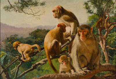 Chua Mia Tee, 'Monkeys of the Goldenhill', 1997