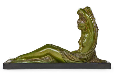 "Demetre Chiparus, 'Large Art Deco sculpture, ""Reclining Woman (Femme Couchée),"" France', ca. 1925"