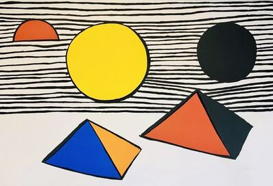 Alexander Calder, 'Two Half Disks', 1971