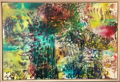 Nachume Miller, 'Untitled Dynamic Colorful Abstract Expressionist Oil Painting, Israeli-American', 1990-1999