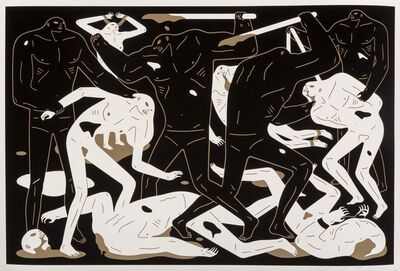 Cleon Peterson, 'Between Man & God (Black)', 2018