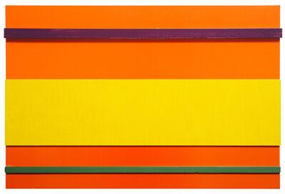 John Nixon, 'Orange monochrome construction with 3 colours', 2000