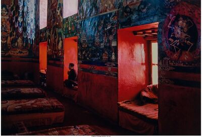 Steve McCurry, 'Monk Meditating in Monastery, Sakya, Tibet', 2000