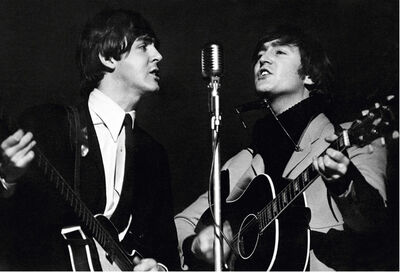 Terry O'Neill, 'John Lennon and Paul McCartney, Wembley Studios', 1964