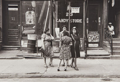 Helen Levitt, 'N.Y.C. (women in front of candy store)', 1945