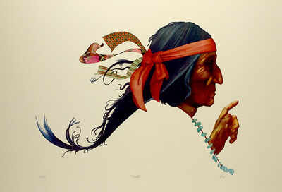 "Robert Allrich, '""To the Light"" American Indian, Cherokee, Navajo, Sioux, Apache, Blackfeet  Limited Edition Print', 1986"