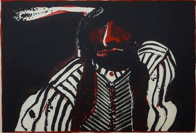 Fritz Scholder, 'Indian with Red Button', 1972