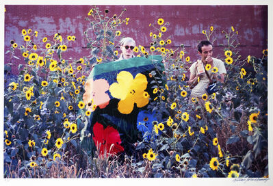 William John Kennedy, 'Andy Warhol with Taylor Mead and Flowers ', 1964