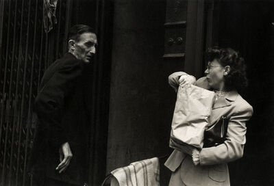 Helen Levitt, 'N.Y.C. (man and woman with package)', ca. 1942