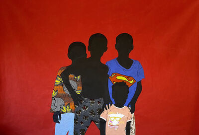"Raphael Adjetey Mayne, '""Superman and His Friends""', 2021"