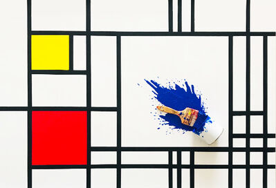 Jean-Paul Donadini, 'Paint Bucket, Bleu Mondrian', 2019