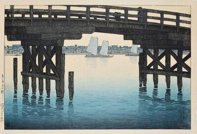 Kawase Hasui, 'Kaminohashi (Bridge) at Fukagawa', 1920