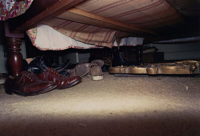 William Eggleston, 'Untitled, Shoes Under Bed, #14/15', 1974