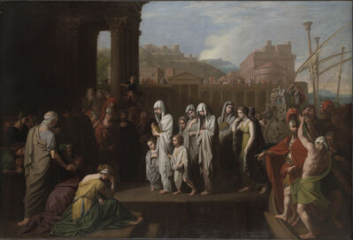 Benjamin West, 'Agrippina Landing at Brundisium with the Ashes of Germanicus', 1768