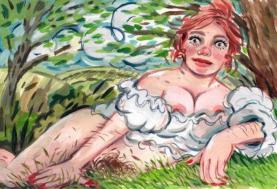 Rebecca Morgan, 'Self-Portrait as Fantasy Romance Novel Cover ', 2020