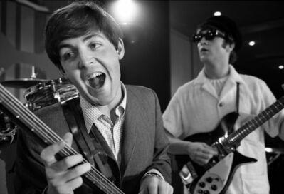 Bob Gomel, 'Paul and John rehearsing before the Beatles' Ed Sullivan Show appearance in Miami', 1964