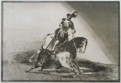 Francisco de Goya, 'Charles Quint Lançant Un Taureau'