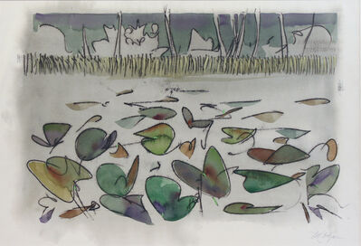 Ted Godwin, 'Wild Rice Lily Pads, Summer Breezes Farewell', ca. 1973