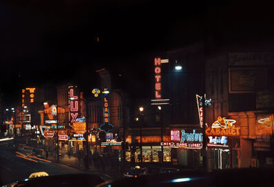 Fred Herzog, 'Hastings, Carrall to Columbia', 1958