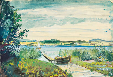 Oskar Laske, 'At lake Wallersee', ca. 1945