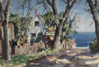 John Whorf, 'Coastal Village Road (on verso: Farm Scene: Winter Night)', Date unknown.