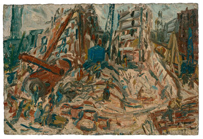 Leon Kossoff, 'Demolition of YMCA Building No. 2, Spring ', 1971