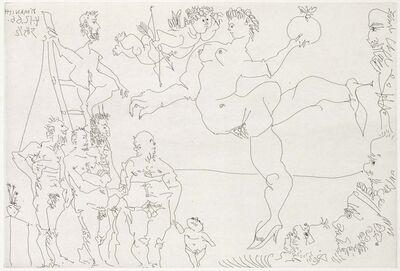 Pablo Picasso, 'Circus Scene with Venus and the Golden Apple and a Cupid (El Entierro del Conde de Orgaz, B.1469)', 1969