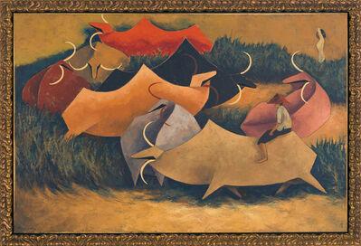 Tay Bak Koi, 'Buffaloes Grazing on Field', 1999