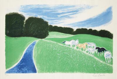 Andre Brasilier, 'Le Vallon Vert', 1989