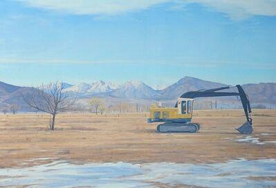 Willard Dixon, 'Sierra Shovel / oil on canvas -  tractor on horizon, construction', 2019