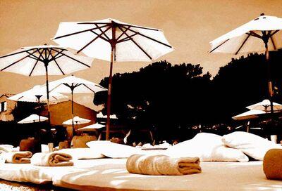Philipp Hofmann, 'Nikki Beach Umbrellas Sepia', 2011