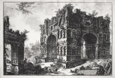 Giovanni Battista Piranesi, 'Tempio detto volgarmente di Giano (1st State) [The Arch of Janus (Janus Quadrifons) with the Arch of the Moneychangers]', 1771