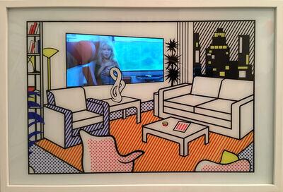 Daniel Cherbuin, 'Interior with Video Art (small)', 2015