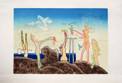 Roberto Matta, '12 AM from L'Arc Obscure des Heures', 1975