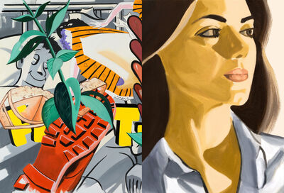 David Salle, 'Verdiana with Hearts', 2020