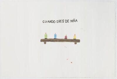 Sara Zielinski, 'Cuando Eres De Nina', 2015